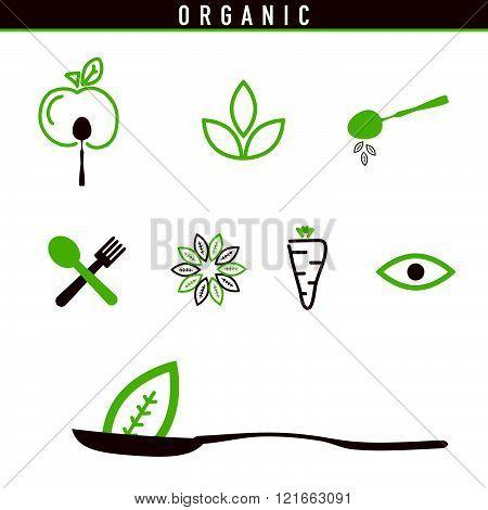 Organic Icon Green Illustration
