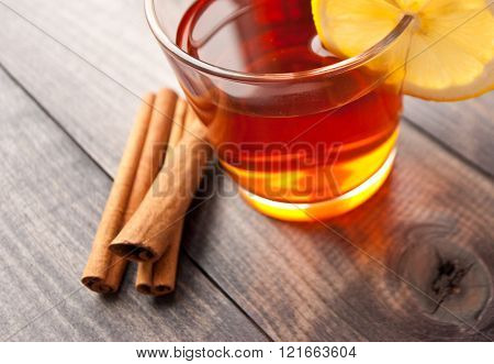Cup Of Tea With Lemon And Cinnamon