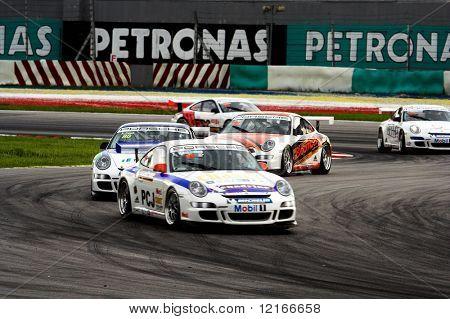 racing around the corner