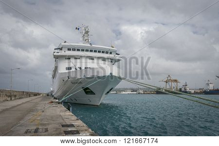 Cruise Ship At Dock