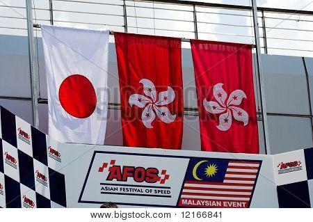 flags of winners