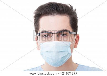 Closeup With The Face Of A Young Doctor