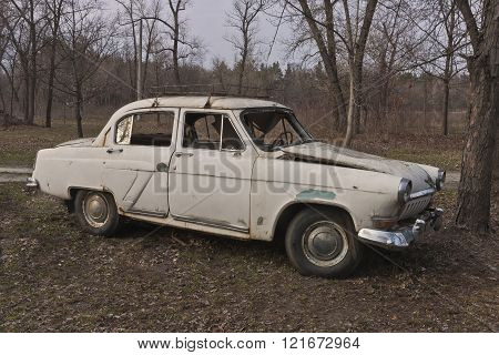 Old broken soviet car