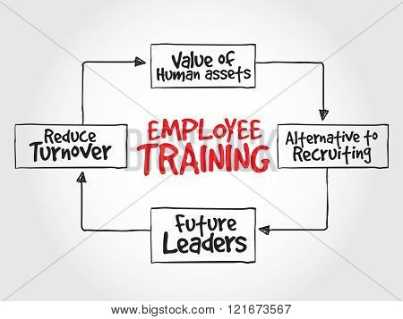 Employee Training Strategy Mind Map