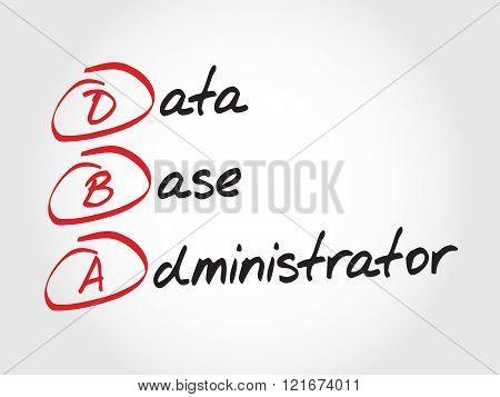 Dba - Database Administrator, Acronym