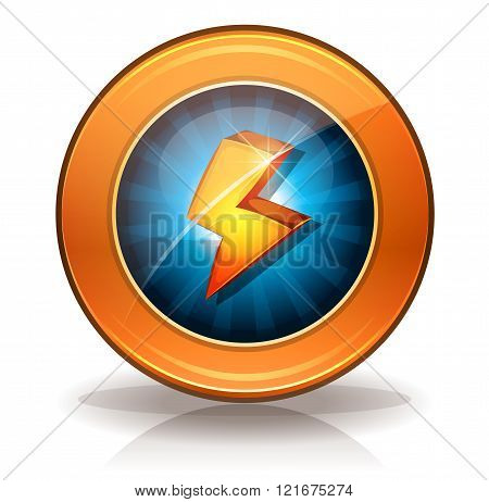 Lightning Icons Badge For Game Ui