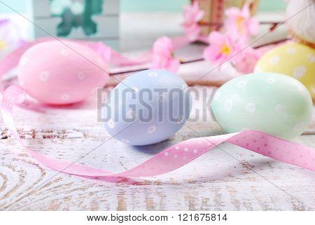 Pastel Colors Easter Eggs