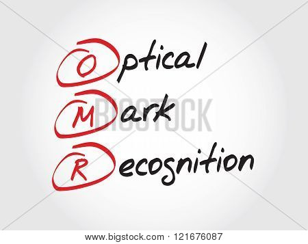 Omr Optical Mark Recognition, Acronym