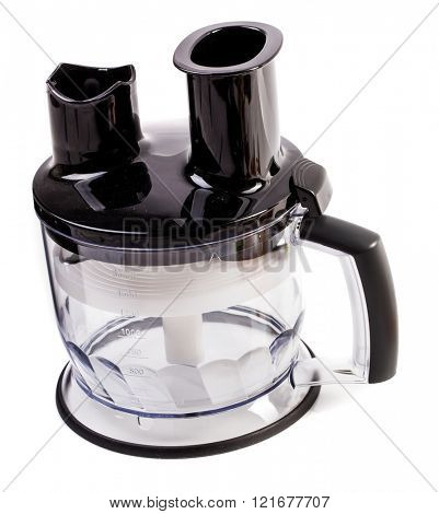 Food processor isolated on a white