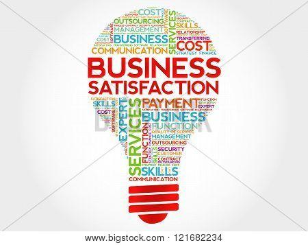 Business Satisfaction Bulb Word Cloud