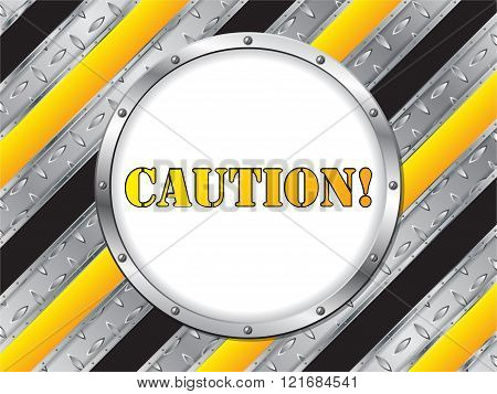 Industrial Background With White Circle