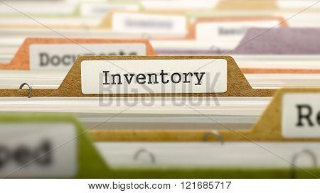 Inventory Concept on Folder Register.