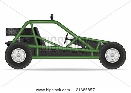 Atv Car Buggy Off Roads Vector Illustration