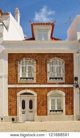 Tiled house in Cascais Portugal.