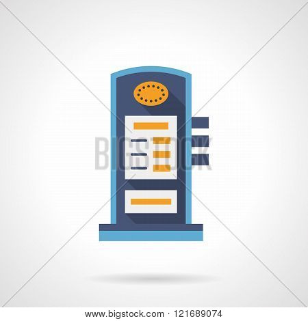 Charging station flat color vector icon