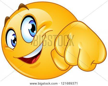 Yellow ball giving a fist bump