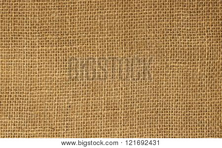 Texture Of Burlap As Background.