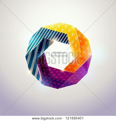 Abstract colorful geometric form.