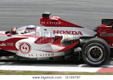 f1 2007 Honda driver Speed in close-up