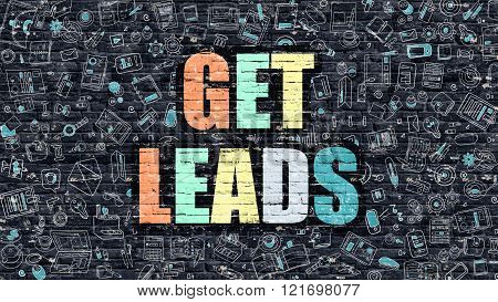 Get Leads on Dark Brick Wall.