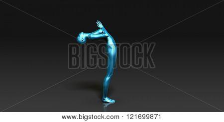 Yoga Class, the Full Sun Salutation Basic Pose Stance