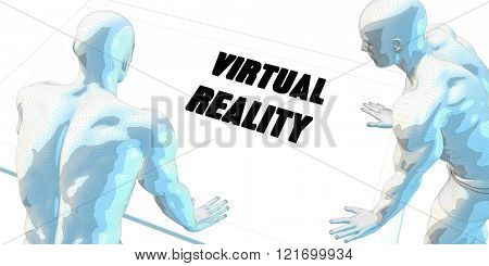 Virtual Reality Discussion and Business Meeting Concept Art