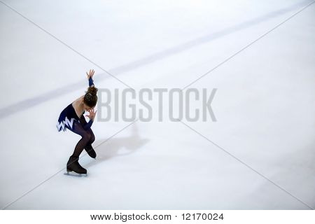 figure-skater waiting to start