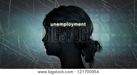 Woman Facing Unemployment as a Personal Challenge Concept