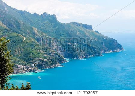 Panoramic View Of The Amalfi Coast