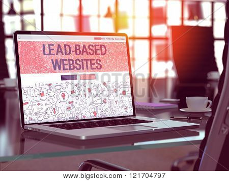 Lead-Based Websites Concept on Laptop Screen.