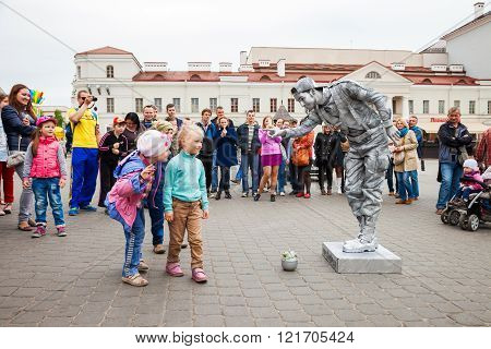 Minsk, Belarus, 11-May-2014: Spring Festival of street theaters in MInsk, Belarus.