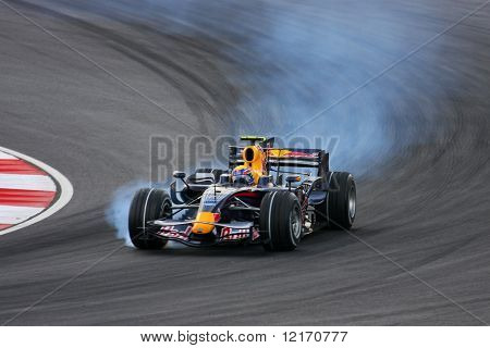 Mark Webber, Australia of Red Bull Racing F1 team 2008