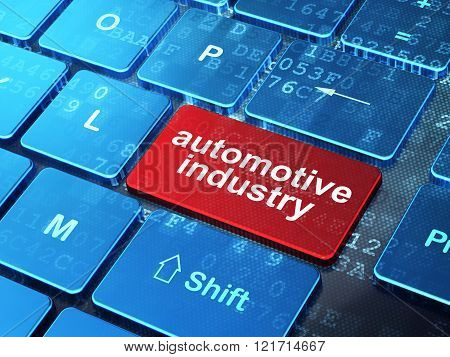 Industry concept: Automotive Industry on computer keyboard background