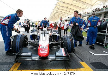 Sepang, MALAYSIA - 23 November: Team France at the starting grid at the World A1 GP championship races held in Malaysia. 23 November 2008 in Sepang International Circuit Malaysia.