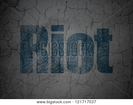 Political concept: Riot on grunge wall background