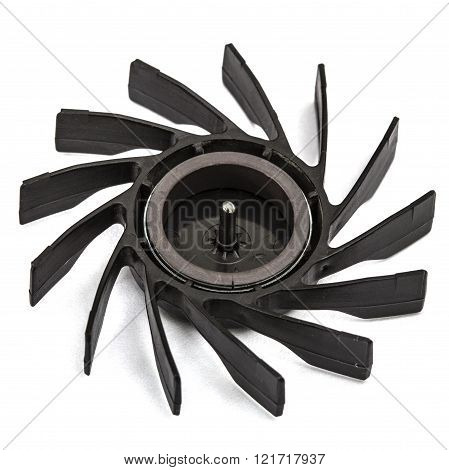 Propellers of  fan, isolated on white background