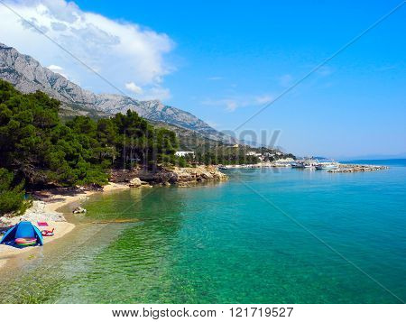Beach Promajna, Croatia.
