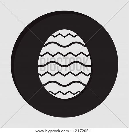 information icon - dark circle with white simple ornamental Easter egg