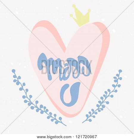 Romantic Miss You card.