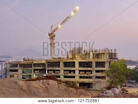 construction site for a new luxury condominiums