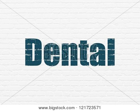 Medicine concept: Dental on wall background