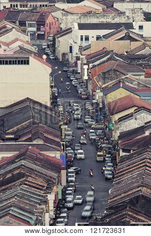 Heritage houses in kimberley street, penang. Malaysia