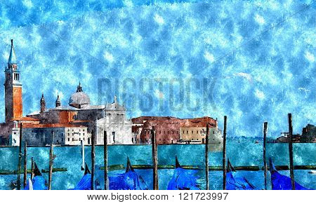 Watercolor Venice Painting