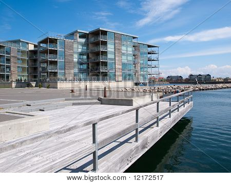 Modern Seaside Waterfront Apartments Building