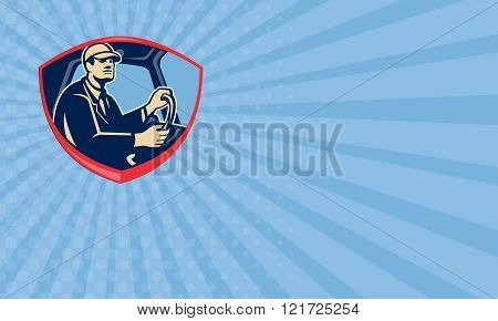Business card Bus Truck Driver Side Shield