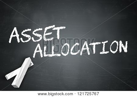 Image Picture Blackboard with Asset Allocation wording