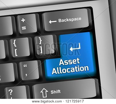 Image Picture Keyboard Illustration with Asset Allocation wording
