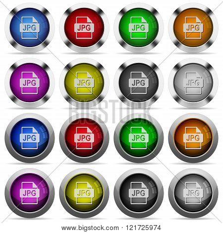 Jpg File Format Button Set