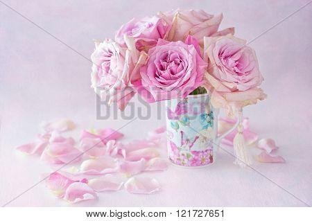Beautiful fresh pink roses