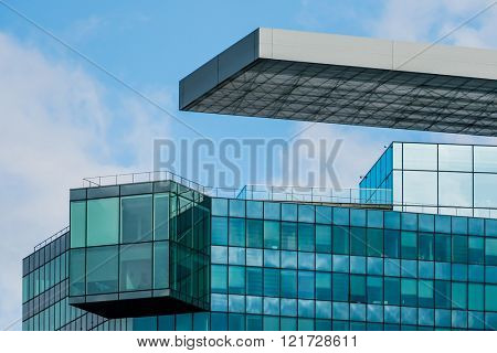 facade of an office building